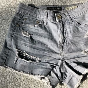 Aeropostale High Waisted Distressed  Denim Shorts